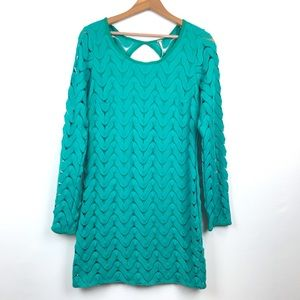 Free People Wild Thing Minidress in Emerald